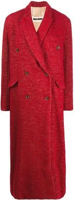 UMA WANG Double Breasted Long Coat