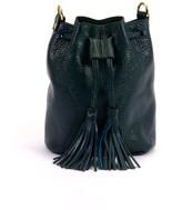 Atelier Hiva Mini Rivus Leather Bag Petrol Blue & Forest Green
