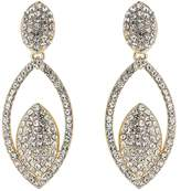 Mikey Twin Eclipse Cubic Embed Drop Earring