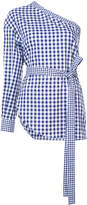 Rosetta Getty striped asymmetric blouse