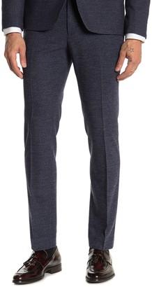 "Moss Bros Medium Blue Check Skinny Fit Suit Separates Pants - 30-34"" Inseam"