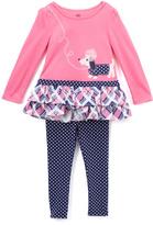 Kids Headquarters Pink Dog Tunic & Leggings - Toddler & Girls