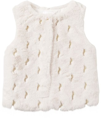 Chloé Embroidered Faux Fur Vest