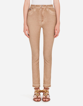 Dolce & Gabbana Audrey-Fit Jeans In Washed Stretch Cotton