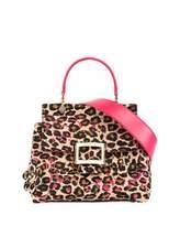 Roger Vivier Viv Cabas Mini Satchel Bag, Leopard