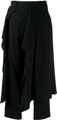 Yohji Yamamoto Draped Panel Trousers
