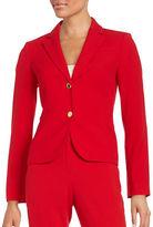 Calvin Klein Notched Lapel Two Button Jacket