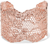 Aurelie Bidermann Lace Rose Gold-plated Cuff