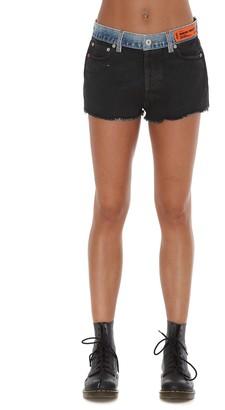 Heron Preston Contrast Waistband Denim Shorts