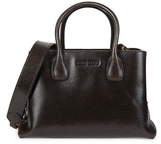 Miu Miu Patent Leather Covertable Top Handle Bag