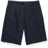 Raf Simons Pleated Wool and Cotton-Canvas Shorts