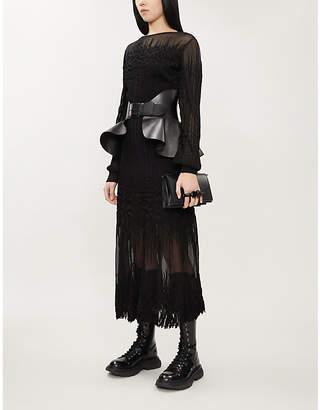 Alexander McQueen Flared crepe dress