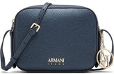 Armani Jeans Metallic Bubble Leather W Gold Hardware Logo