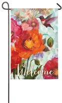 """Evergreen Hummingbird """"Welcome"""" Indoor / Outdoor Garden Flag"""