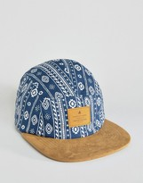Asos 5 Panel Cap With Aztec Print