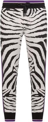 Dolce & Gabbana Zebra-Print Track Pants