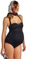 Pez D'or Pez Dor Maternity Mykonos Retro Ruched Sequin Trim One Piece Swimsuit 8131935