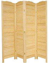 Oriental Furniture Modern Furniture, 6-Feet Venetian Blind Folding Privacy Floor Screen Room Divider
