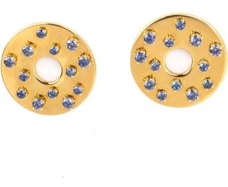 Coins Earring Blue Sapphire