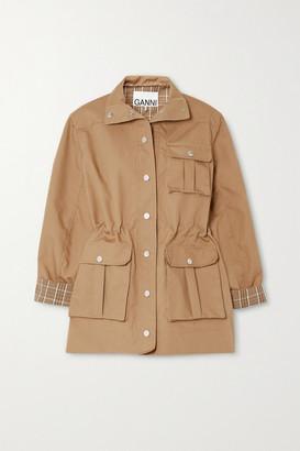 Ganni Cotton-blend Canvas Jacket - Beige