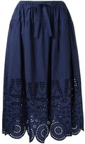 Muveil perforated detailing A-line skirt - women - Cotton - 40