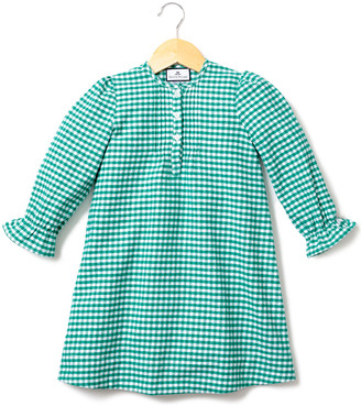 Petite Plume Beatrice Gingham Flannel Nightgown, Size 6M-14