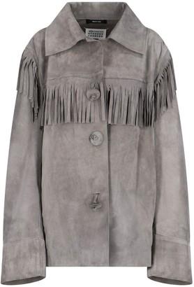 Maison Margiela Fringe Detail Oversized Jacket