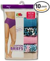 Fruit of the Loom Women's 10Pack Briefs Briefs Underwear Panties 5