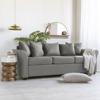 "Winston Porter Alzenia 80"" Linen Flared Arm Sofa"