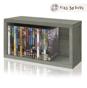 Way Basics Stackable Dvd Rack