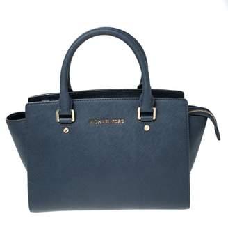 Michael Kors Selma Blue Cloth Handbags