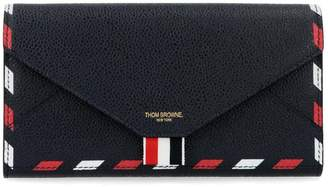 Thom Browne Striped Logo Print Wallet