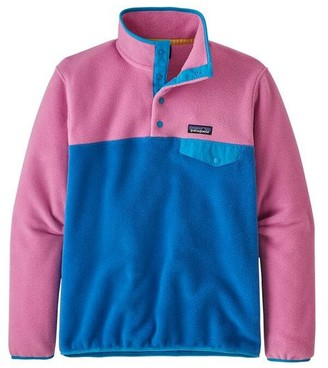 Patagonia Womens Lw Synch Snap T Pull Over Marble Pink - S