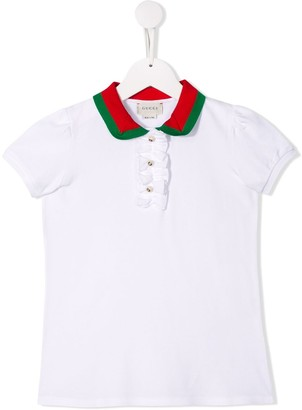 Gucci Kids Short Sleeve Polo Shirt