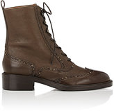Sartore Women's Stud-Embellished Wingtip Boots-Brown