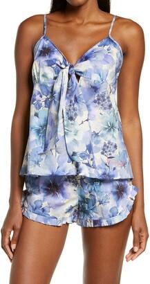 The Lazy Poet Rosie Ocean Flowers Cotton Short Pajamas