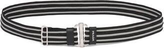 Prada Striped Adjustable Belt