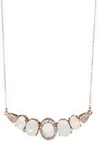 Jenny Packham Pave & Prong Set Faceted Stone Necklace