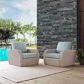 Highland Dunes Zakrzewski Patio Chairs with Cushions Highland Dunes Cushion Color: Mist