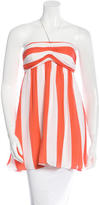 Alice + Olivia Striped Silk Halter Top