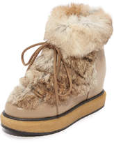 Paloma Barceló Kansas Fur Wedge Booties