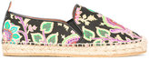 Etro abstract print espadrilles - women - Cotton/Raffia/Leather/rubber - 38