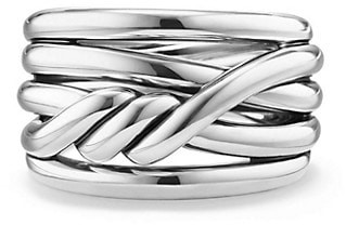 David Yurman Continuance Ring in Sterling Silver