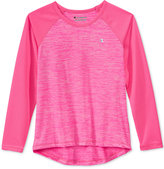 Champion Girls' Space-Dye & Mesh Raglan-Sleeve Top