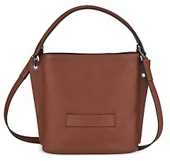 3D Small Leather Hobo