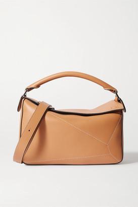 Loewe Puzzle Large Leather Shoulder Bag - Tan