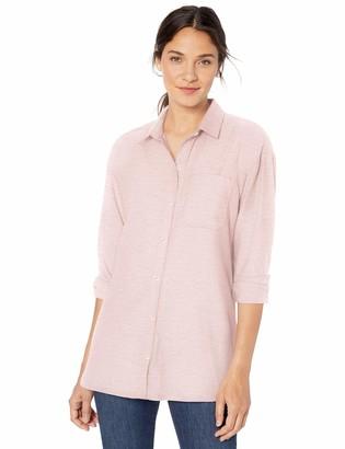 Goodthreads Amazon Brand Women's Solid Brushed Twill Drop-Shoulder Long-Sleeve Button Shirt