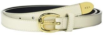 Lauren Ralph Lauren Skinny Bennington Belt (Vanilla) Women's Belts