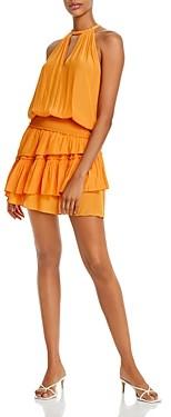 Ramy Brook Alexandra Ruffled Blouson Mini Dress