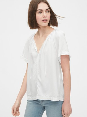 Gap V-Neck Tie-Front Top